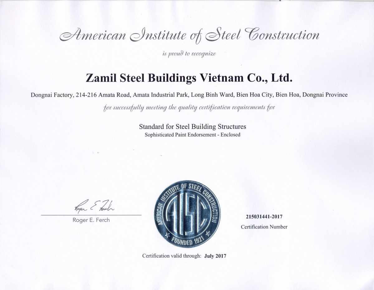 Vietnam  Aisc Certification For Dong Nai Factory  Zamil. Travel Agent Schools Online Salt Lake Cable. Zero Balance Account Agreement. Uri Continuing Education Kitchen Stock Photos. Pharmacy Technician Schools In Massachusetts. Spring Hill Mall Address Pest Control Ocala Fl. Mortgage Approval Letter Art Institute Dallas. Best Tv And Internet Deals Find My Insurance. Advertising On Facebook Free