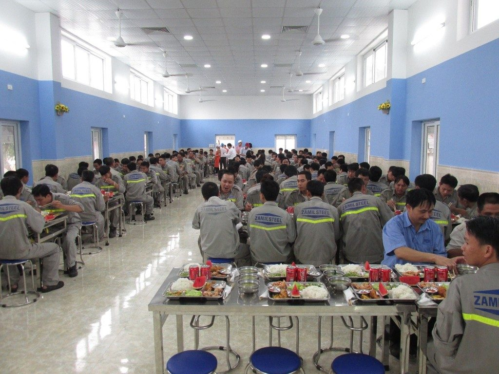 zamil steel new canteen for workers