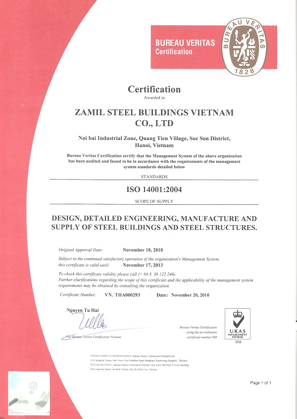 ISO 14001 & OHSAS 18001 achieved successfully