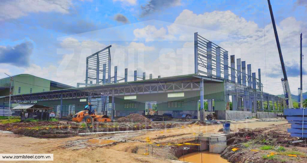 steel structures rice mill project by Zamil Vietnam in the Philippines
