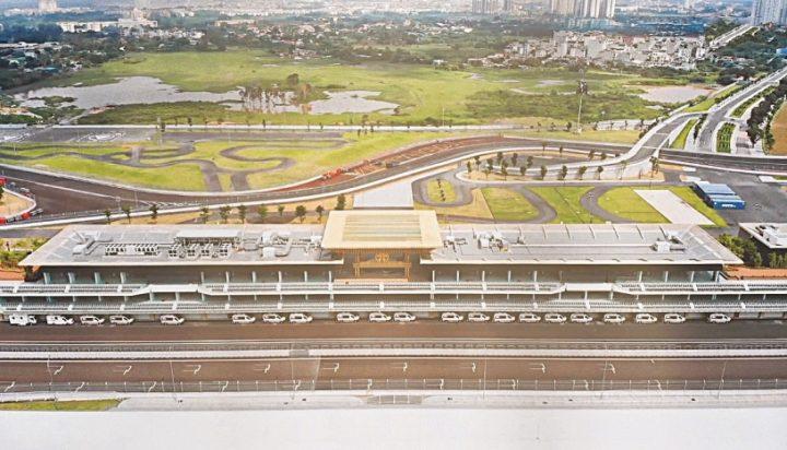 Formula1 Pit Building Hanoi supplied by Zamil Steel Vietnam